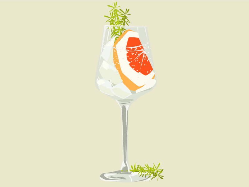 Cocktail food cocktail vector illustration design
