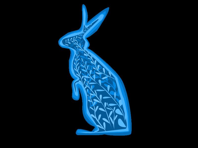 Floral bunny branding logo vector illustration design