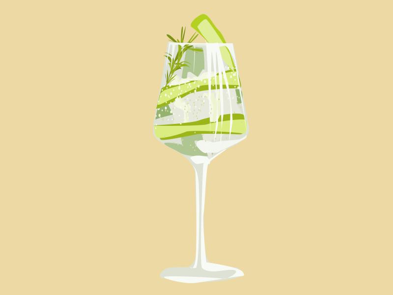 Cocktail logo branding food cocktail vector illustration design