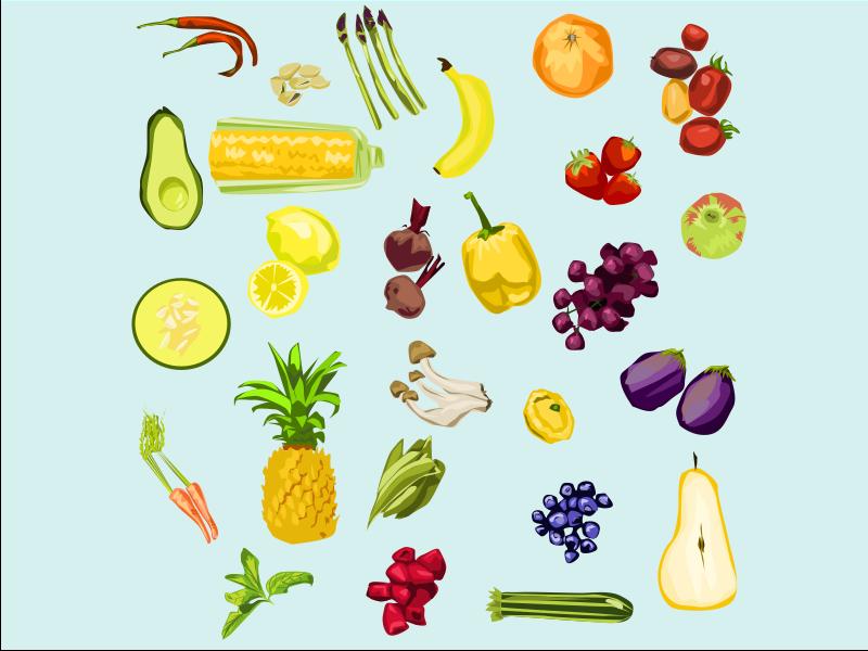 Healthy Food branding food vector illustration design