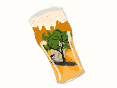 Beer pub sticker