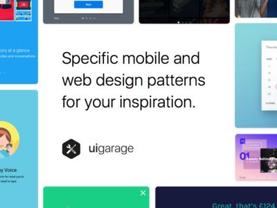 UI Garage - Specific mobile and web design patterns patterns web mobile specific blog design inspiration ux ui