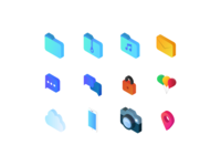 Isometric Icons Work in Progress