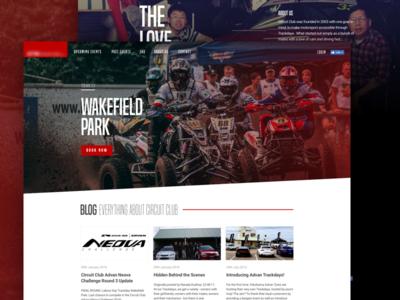 Racing Club Website circuit moto visual website club design racing