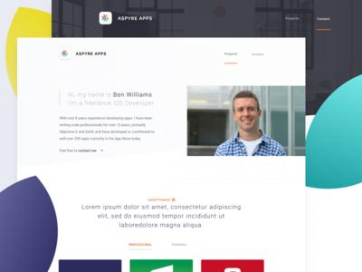 Website Project developer ios design bird plum website landing dev