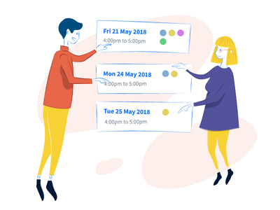Vyte Group Meeting Illustration meetings scheduling calendar sketch drawing page illustration vyte