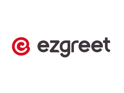 Ezgreet Logo wax letter typography app design red logo greeting cards greetings