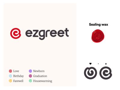 Ezgreet Logo Explanation logo 3d brand heart red wax cards greetings logo
