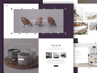 Bloom Furniture Template decor decorate ecommerce product landing webdesign ui design home interior furniture