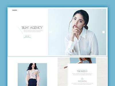 Bloom Model Agency development webdesign design landing ux ui photography photo studio agency model