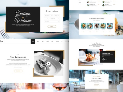 Delice P/1 menu ui webdesign development design onepage landing page restautant food