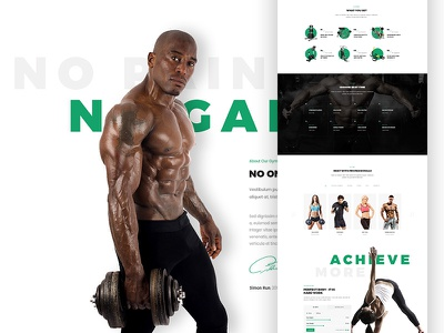 Run P/1 template workout one page landing ux ui design webdesign fitness sport gym