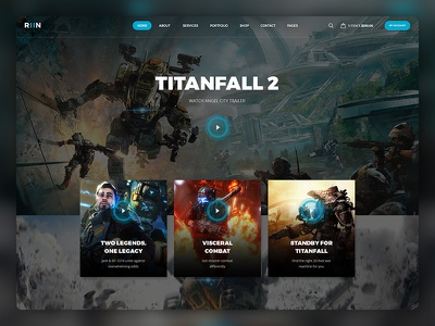 Run P/2 game template template webdesign one page design landing game