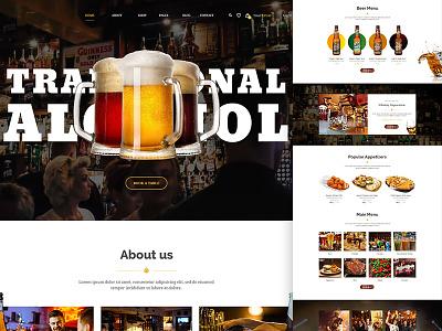 Delice P/2 template drink pub webdesign ux ui restautant onepage menu landing page food design