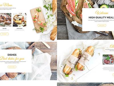Delice P/3 webdesign ui restautant onepage menu landing page food development design