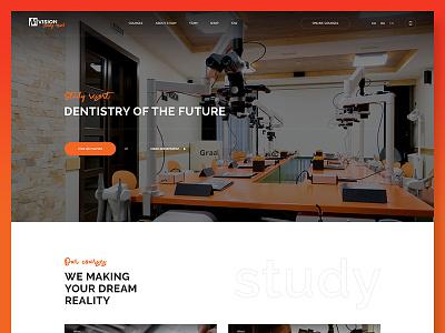 Mvision Study Resort landing website clinic ui webdesign courses business medial dentistry study