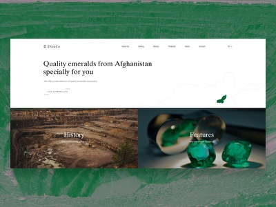 DA&Co ecommerce development webdesign shop gem jewelry ui design