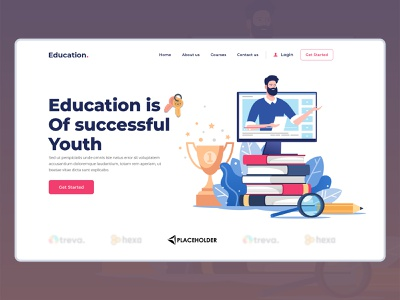 Online Education Website For Students lesson class study task web app elearning online course learning learning platform website design company uiux education website presentation website design website classroom teachers students educational education