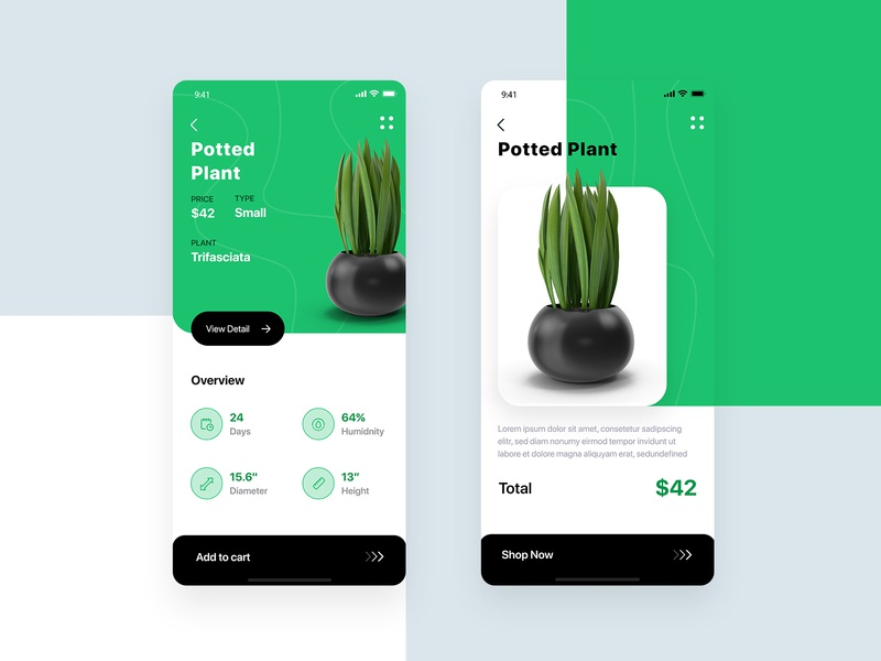 Start a Plant Shop leaves leaf tree mobile design potted nature grow green flower potted plant white uiux ui mobile app plant nursery plant shopping planting plant app plant shop plant