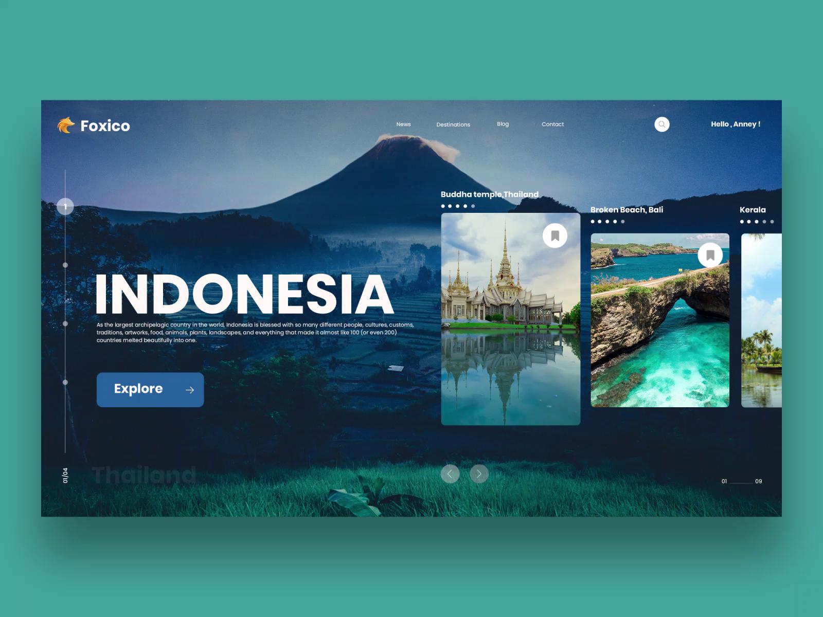 Creative Travel Website Design by Excellent WebWorld on Dribbble