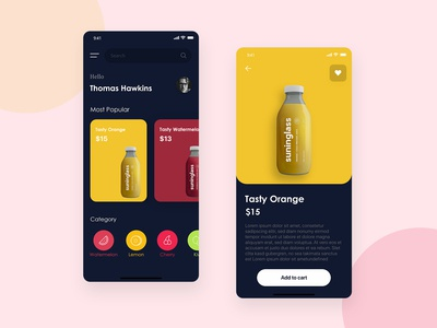 Natural Fresh Juice Mobile App