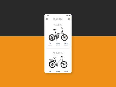 Electric Bike Rental App