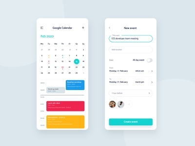Best Calendar Apps for Android and iOS themes task set reminder calendar app calendar monthly calendar app best tools planning day tracking events productivity create event event google calendar android app design android iphone ux mobile ui mobile app design mobile app