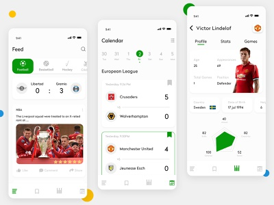 Best Sports App for Android user experience white theme interface app development stats games ui  ux mobile app design mobile app ui mobile app app design mobile fitness sports branding sports sports design sports mobile app sports app