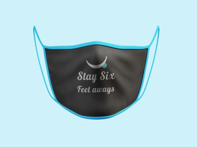 """Good Face Mask Challenge """"Stay Six Feet Always"""" uiux covid-19 covid19 distance social distance stay home stay safe mask graphics design graphics challenge mask design design face mask challenge face mask dribbble dribble shot"""