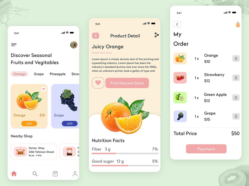 On Demand Fruit and Vegetable App