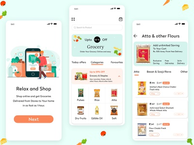Create an Grocery Delivery App🛍️ source code mobile app ux app ui delivery app grocery shopping app design app development on demand food grocery online grocery store grocery list grocery app development grocery app grocery