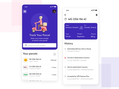 Build an On-demand Courier Delivery App parcel tracking on demand app on demand parcels app design uiux mobile ui ui mobile app uber startup small business app development delivery app package delivery
