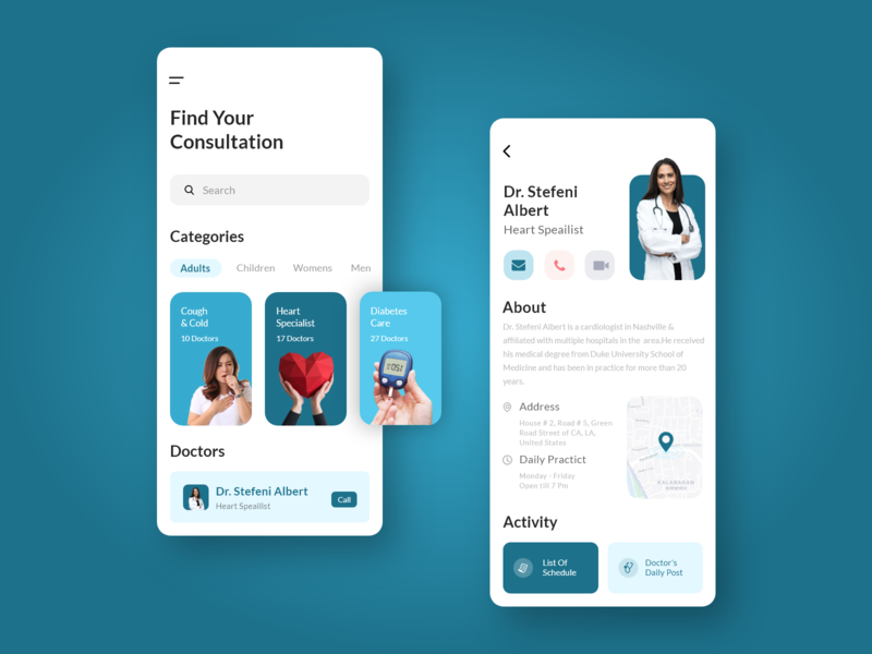 Online Doctor Consultation App schedule appointment healthcare app app development app design ux ui doctor appointment medical app developers app developers ui ux mobile ui mobile app medical app doctor on demand doctor app healthcare