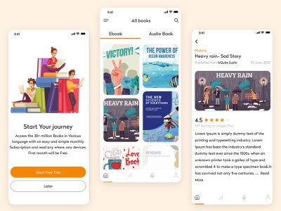 Create an eBook App With Mobile App education ui ux reading app reading book appointment book book application book app education app design uiux ebook ebook layout ebooks ebook design ebook cover mobile app design app development mobile app