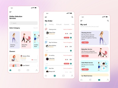 Top Cleaning Service Booking App UI Design cleaning services cleaning company cleaningservicee uiux ui mobile app design app development app design mobile app