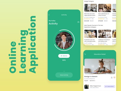 Latest Online Learning Platform UI Design education app education uiux ux  ui mobile app design app development app design mobile app online learning elearning learning platform learning app