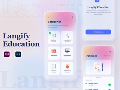 Best Online Education App UI Design app design uiuxdesign ui design learning platform learning app elearning online learning education app education