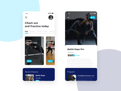 Ultimate UI/UX Designs of Fitness App in 2020 mobile app design uiux ui mobile app app design workout app workout health app gym app gym fitness center fitness app fitness