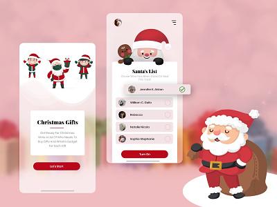 Creative Christmas App UI Design ui design uidesign ui mobile app app design xmas party xmas card xmas christmas flyer christmas party christmas tree christmas card christmas