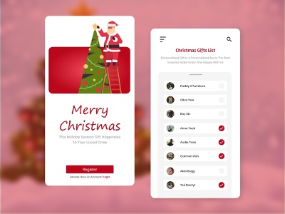 Best 🎄 Christmas App UI Design ux design design uiux app development app design mobile app christmas party christmas tree christmas flyer christmas card christmas