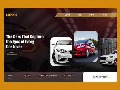 Car Website UI Design ui  ux design web uidesign uiux ui website design web design webdesign website car website