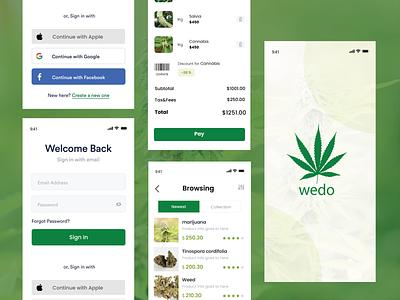Top Marijuana Store Mobile App design uiux app design app development mobile app marijuana for sale marijuana cannabis packaging cannabis design cannabis