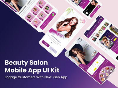Best Beauty Salon Mobile App UI Kit design ui mobile app design app development app design mobile app salons salon app salon beauty app beauty salon beauty