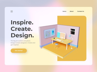 Top 3d Objects UI Design 3d animation webdesign website design web design ui designs ux design agency ui design ux design desktop 3d 3d illustration 3d design