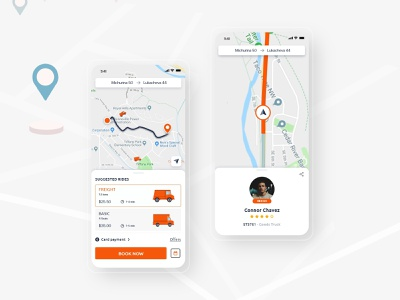 Most Creative Truck Booking App UI uiux ui design uidesign app design transport app transports transportation design transportation trucking truck app truck