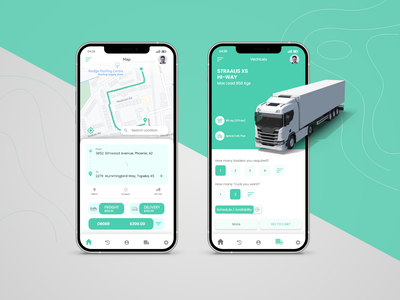 Best Transport App UI Design ui ux logistic logistics app ui design app design trucking truck transportation design transportation transporter transport