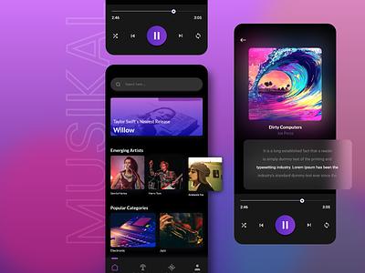 Most Popular UI Design for Music App 🎵 uiux app development mobile app design app design mobile app online music music streaming streaming music player music app music