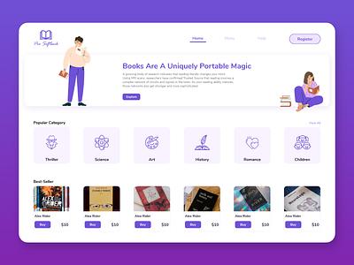 Best Online Book Shop Website Design website concept ui ux ui design store design store app website design website book store book shop book