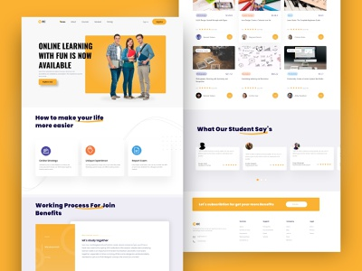 Best Online Learning Platform UI Design uiux ui design website design e learning online learning platform online learning education website education app educational elearning development elearning
