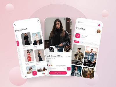 Trending Ecommerce Mobile App UI Design uiux design app development mobile app mobile app design ui design app design shopping app ui design clothing app design ecommerce app design
